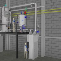 Thermal flue gas cleaning with waste heat utilisation for steam