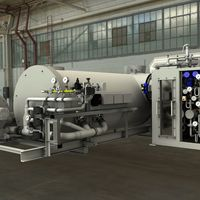 Thermal exhaust gas cleaning with directly downstream waste heat recovery system for high-temperature hot water generation