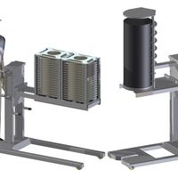 Customer-specific equipment for industrial furnace plants - as lifting and charging devices