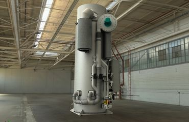 Thermal afterburning plant for 50kg-h