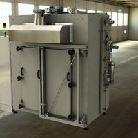 Industrial dryer as annealing furnace for the thermal treatment of ceramic foils